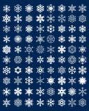 Fiocchi di neve per l'illustrazione di disegno Fotografia Stock Libera da Diritti