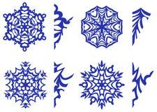 Fiocchi di neve per la decorazione con i modelli per scolpire Immagini Stock Libere da Diritti