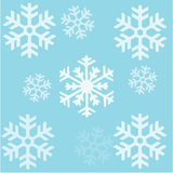 Fiocchi di neve senza giunte Patern della priorità bassa Fotografia Stock Libera da Diritti
