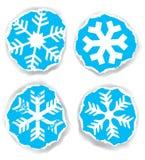 Fiocchi di neve sulla carta lacerata Fotografia Stock Libera da Diritti
