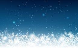 Fiocchi di neve, vacanza invernale, vettore elegante e astratto del fondo illustrazione vettoriale