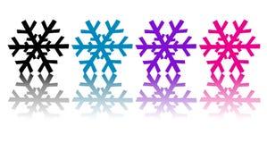 Fiocchi di neve variopinti Fotografie Stock