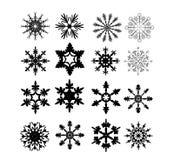 Fiocchi di neve - vettore - isolati - Natale Fotografie Stock Libere da Diritti