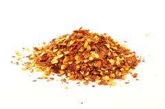Fiocchi di pepe rosso Fotografia Stock