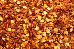 Fiocchi di pepe rosso Fotografie Stock Libere da Diritti
