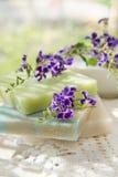 Fiocchi di sapone colorati Fotografia Stock