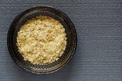 Fiocchi nutrizionali del lievito Fotografie Stock Libere da Diritti