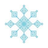 Fiocco blu della neve Fotografie Stock Libere da Diritti