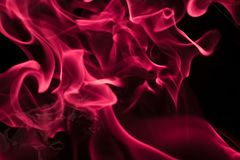 Fiocco del fumo nella porpora Fotografia Stock Libera da Diritti