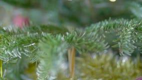 Fiocco dell'albero di Natale stock footage