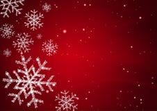 Fiocco della neve con la stella Immagine Stock