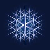 Fiocco di cristallo della neve Fotografia Stock Libera da Diritti