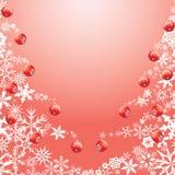 Fiocco di neve, albero di Natale della palla di neve Fotografia Stock Libera da Diritti