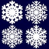 Fiocco di neve astratto decorativo Immagine Stock