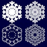 Fiocco di neve astratto decorativo Fotografia Stock Libera da Diritti
