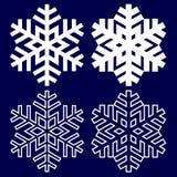 Fiocco di neve astratto decorativo Fotografia Stock