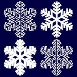Fiocco di neve astratto decorativo Fotografie Stock Libere da Diritti