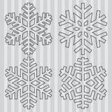 Fiocco di neve astratto decorativo Fotografie Stock