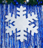 Fiocco di neve bianco Immagine Stock Libera da Diritti