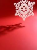 Fiocco di neve bianco Fotografie Stock Libere da Diritti