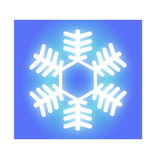 Fiocco di neve bianco d'ardore Fotografie Stock