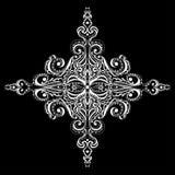 Fiocco di neve bianco ornamentale Fotografia Stock Libera da Diritti