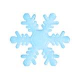 Fiocco di neve blu Fotografia Stock Libera da Diritti