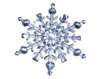 Fiocco di neve blu fatto di vetro Immagini Stock