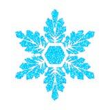 Fiocco di neve blu su bianco Immagini Stock Libere da Diritti