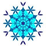 Fiocco di neve blu su fondo bianco illustrazione vettoriale