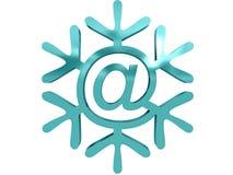 Fiocco di neve con Fotografia Stock