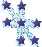 Fiocco di neve decorativo Immagini Stock Libere da Diritti