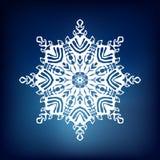 Fiocco di neve decorativo Fotografie Stock Libere da Diritti