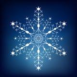 Fiocco di neve decorativo Fotografia Stock Libera da Diritti