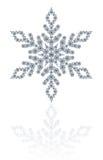 Fiocco di neve dei diamanti su fondo bianco Fotografia Stock Libera da Diritti