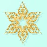 Fiocco di neve dell'oro Immagine Stock Libera da Diritti