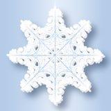 Fiocco di neve di carta Fotografia Stock Libera da Diritti