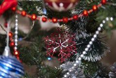 Fiocco di neve di festa di Natale Immagini Stock Libere da Diritti