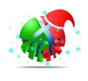 Fiocco di neve di X'mas di Natale Fotografia Stock
