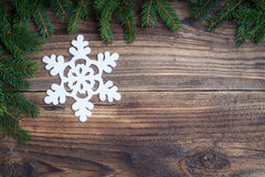Fiocco di neve di Natale Fotografia Stock Libera da Diritti