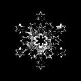 Fiocco di neve di vetro Fotografia Stock Libera da Diritti