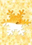 Fiocco di neve dorato Fotografie Stock