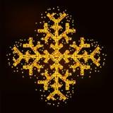 Fiocco di neve dorato magico illustrazione di stock