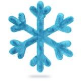 Fiocco di neve lanuginoso illustrazione vettoriale