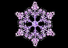 Fiocco di neve di natale immagine stock