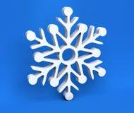 fiocco di neve di natale bianco 3d isolato su fondo blu royalty illustrazione gratis