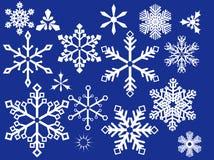 Fiocco di neve per il disegno Fotografie Stock