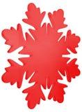Fiocco di neve rosso di inverno illustrazione vettoriale