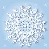 Fiocco di neve rotondo Fotografia Stock
