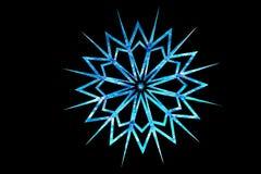 Fiocco di neve strutturato di vetro blu Fotografia Stock Libera da Diritti